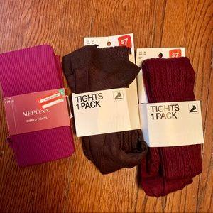 Knit tights lot Medium H&M Merona